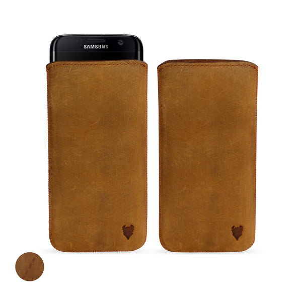 Samsung Galaxy A8 (2018) Genuine European Leather Pouch Case | Artisanpouch