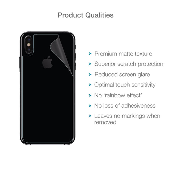 Apple iPhone XS Max Back (Rear) Screen Protector (Matte Clear) | Magicscreen