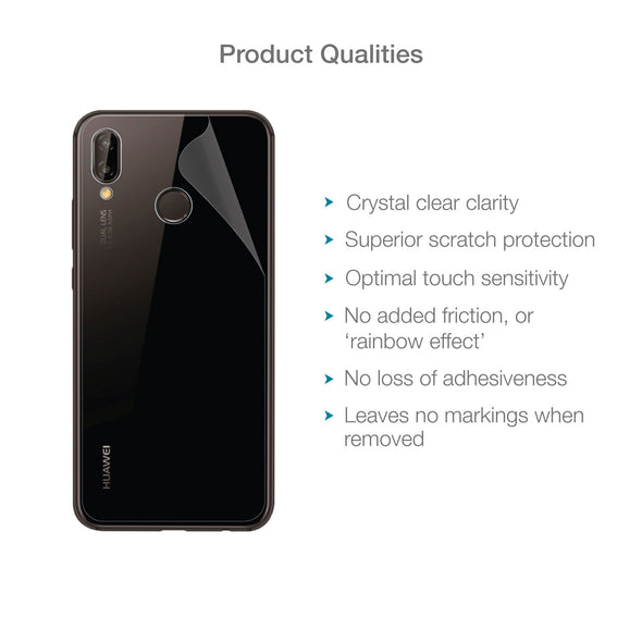 Huawei P20 Lite Back (Rear) Screen Protector (Clear) | Magicscreen