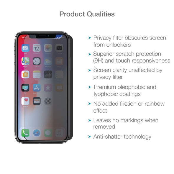 iPhone XS Max Tempered Glass Privacy Screen Protector | Magicscreen