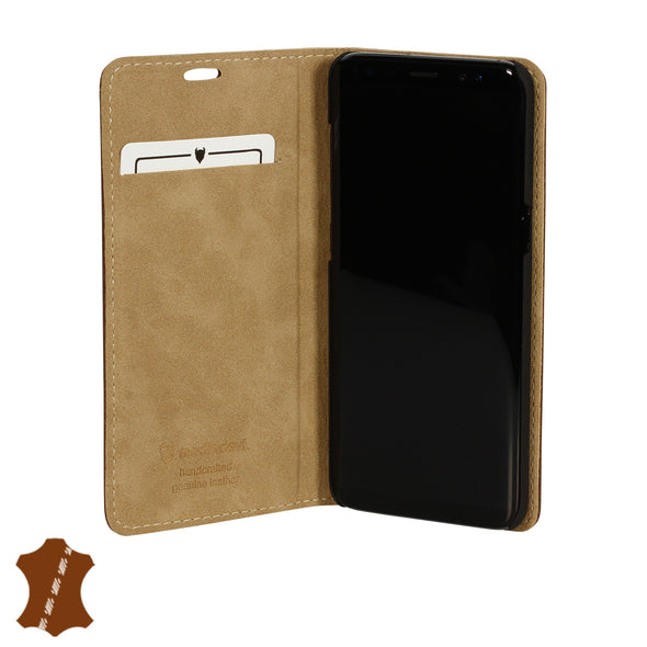 Samsung Galaxy S9 Genuine European Leather Notebook Case with Stand | Artisancover (3rd Gen.)