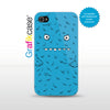 Grafikcase iPhone 4/4S case: Blue Monster