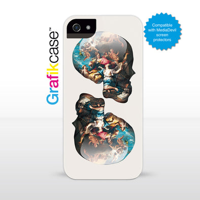 Grafikcase iPhone SE/5/5S case: Skull Victory over Ignorance by Magnus Gjoen