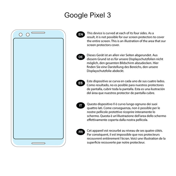 Google Pixel 3 Screen Protector (Ultra-Tough, Glass-Free) | Magicscreen