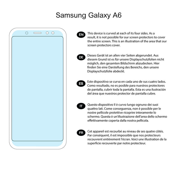Samsung Galaxy A6 (2018) Screen Protector (Ultra-Tough Edition, Glass-Free) | Magicscreen