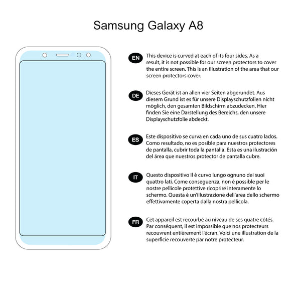 Samsung Galaxy A8 (2018) Screen Protector (Ultra-Tough, Glass-Free) | Magicscreen
