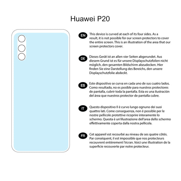 Huawei P20 Back (Rear) Screen Protector (Clear) | Magicscreen