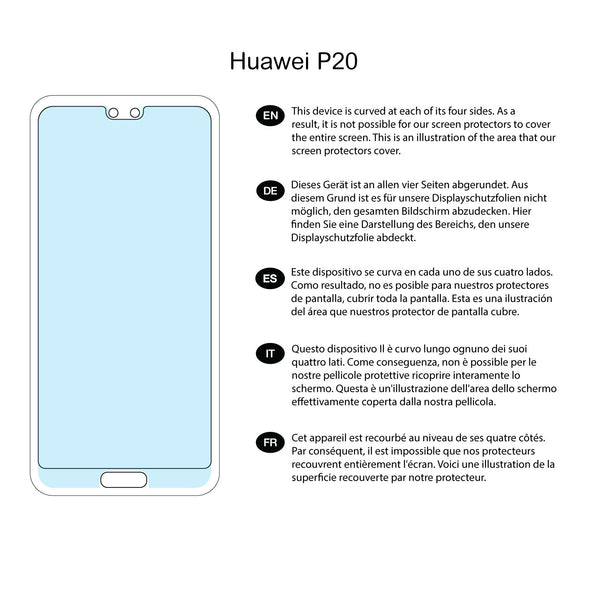 Huawei P20 Screen Protector (Clear) | Magicscreen