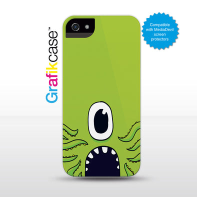 Grafikcase iPhone SE/5/5S case: Green Monster