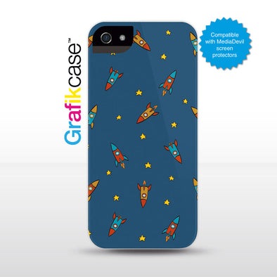 Grafikcase iPhone SE/5/5S case: Rockets