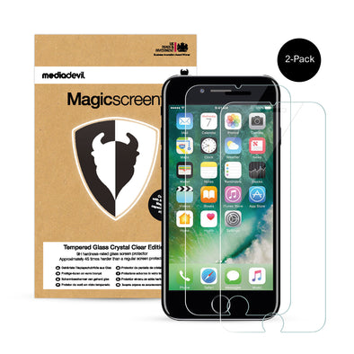 iPhone 7 Plus & iPhone 8 Plus Tempered Glass Screen Protector (Clear) | Magicscreen
