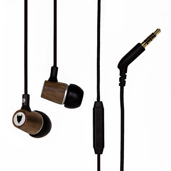 Artisanphonics EB-03 Luxury Wood Earphones with Built-in Microphone