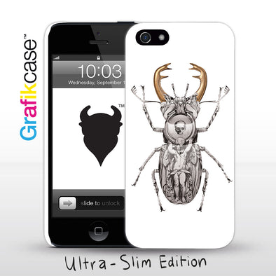 Grafikcase iPhone SE/5/5S case: Stag Beetle by Magnus Gjoen