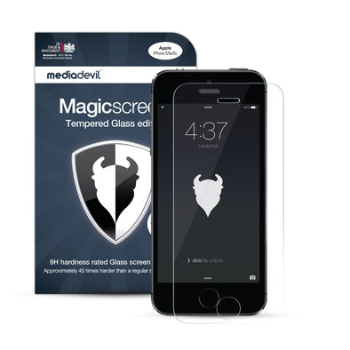 Magicscreen screen protector: Tempered Glass Clear (Invisible) edition - Apple iPhone SE/5/5s - (1 x Glass Screen Protector)