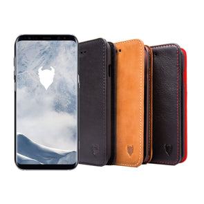 Samsung Galaxy S9+ (S9 Plus) Genuine European Leather Notebook Case with Stand | Artisancover (3rd Gen.)