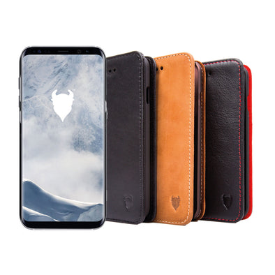 Samsung Galaxy S8+ Genuine European Leather Notebook Case with Stand | Artisancover (3rd Gen.)
