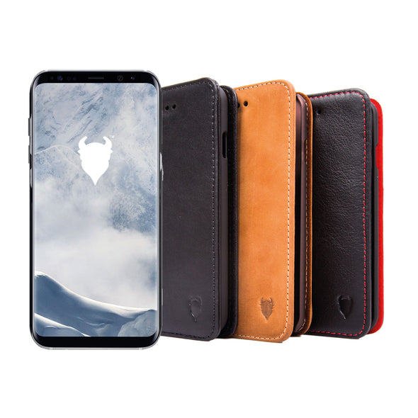Samsung Galaxy S9 Genuine Leather Case with Stand | Artisancover