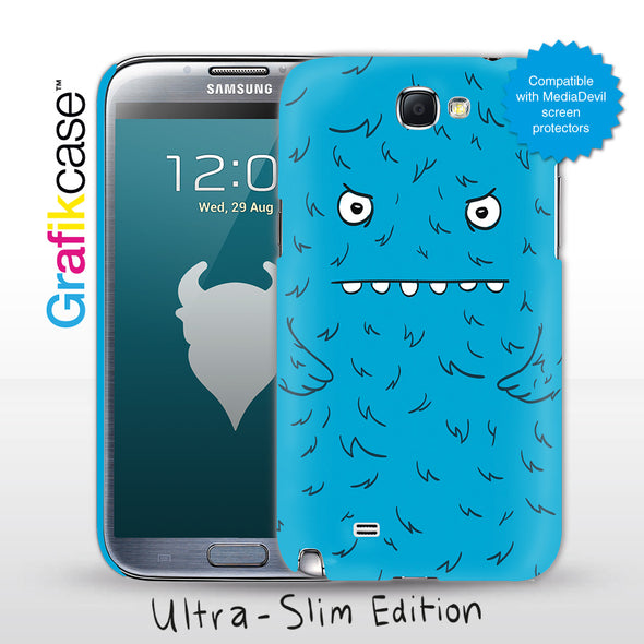 Grafikcase Samsung Galaxy Note II / 2 case: Blue Monster - Glossy