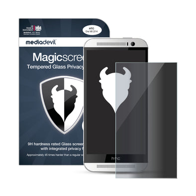 HTC One M8 Tempered Glass Privacy Screen Protector | Magicscreen