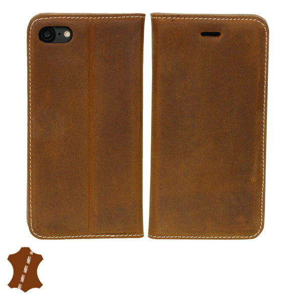 Apple iPhone SE (2020) and iPhone 8/7 Genuine European Leather Notebook Case with Stand | Artisancover (3rd Gen.)