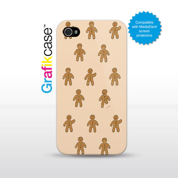 Grafikcase iPhone 4/4S case: Gingerbread Men