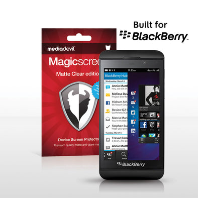 BlackBerry Z10 Matte Clear (Anti-Glare) Screen Protector | Magicscreen