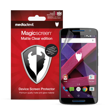 Motorola Moto X Play Matte Clear (Anti-Glare) Screen Protector | Magicscreen