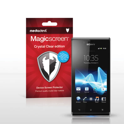 Magicscreen screen protector - Crystal Clear (Invisible) Edition - Sony Xperia J