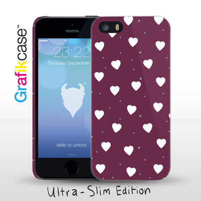 Grafikcase iPhone SE/5/5S case: Confetti Hearts