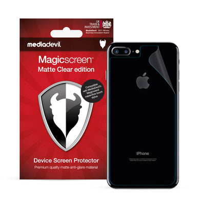 Apple iPhone 7 Plus & iPhone 8 Plus Back (Rear) Screen Protector (Matte Clear) | Magicscreen