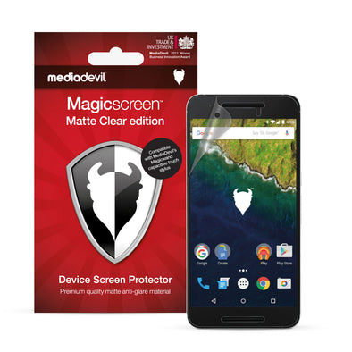 Google Nexus 6P Matte Clear (Anti-Glare) Screen Protector | Magicscreen