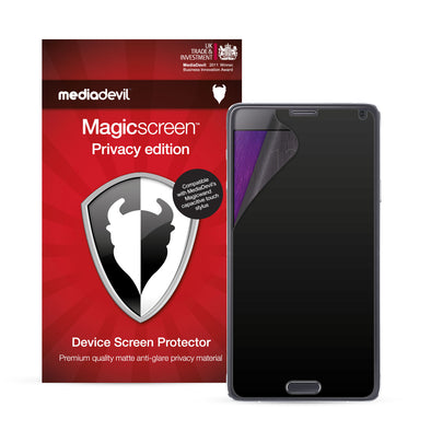 Samsung Galaxy Note 4 Privacy Screen Protector | Magicscreen