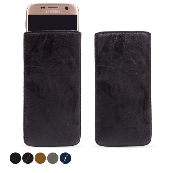 Samsung Galaxy S7 Genuine European Leather Pouch Case | Artisanpouch