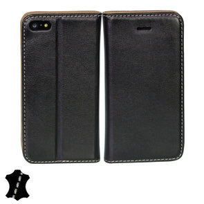 Apple iPhone SE/5/5s Genuine European Leather Notebook Case with Stand | Artisancover (3rd Gen.)