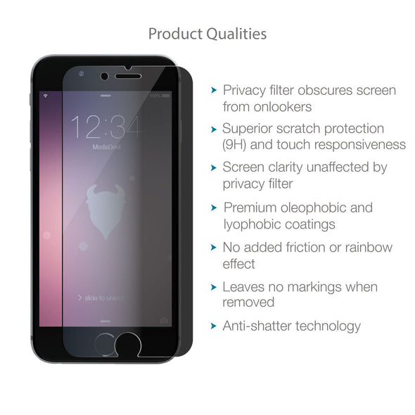 Apple iPhone 6 Plus / 6s Plus Tempered Glass Privacy Screen Protector | Magicscreen