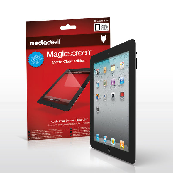 Magicscreen screen protector - Matte Clear (Anti-Glare) Edition - Apple iPad 2 / iPad 3
