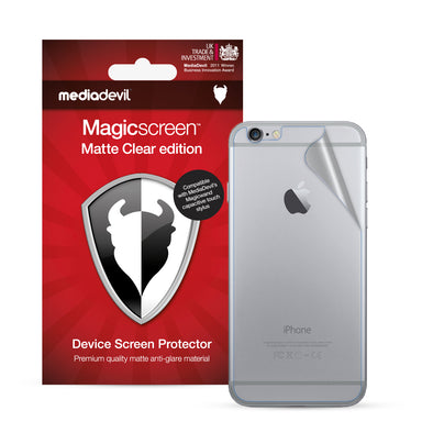 Apple iPhone 6 / 6s Back (Rear) Screen Protector (Matte Clear) | Magicscreen