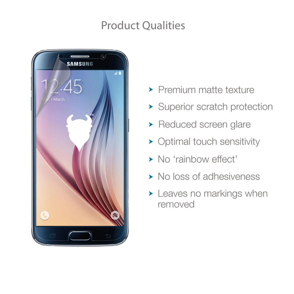 Samsung Galaxy S6 Matte Clear (Anti-Glare) Screen Protector | Magicscreen