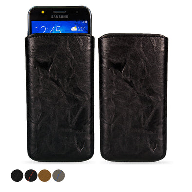 Samsung Galaxy J5 (2015) Genuine European Leather Pouch Case | Artisanpouch