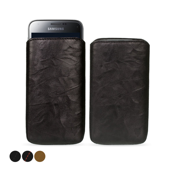 Samsung Galaxy S5 Mini Genuine European Leather Pouch Case | Artisanpouch