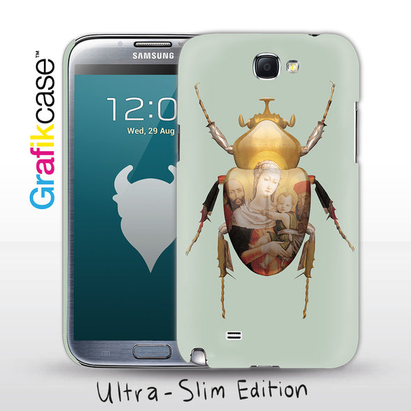 Grafikcase Samsung Galaxy Note II / 2 case: Scarab Madonna and Child by Magnus Gjoen - Glossy