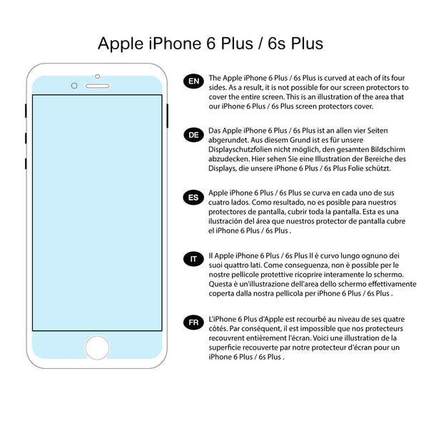 Apple iPhone 6 Plus / 6s Plus (2-Pack) Tempered Glass Screen Protector (Clear) | Magicscreen