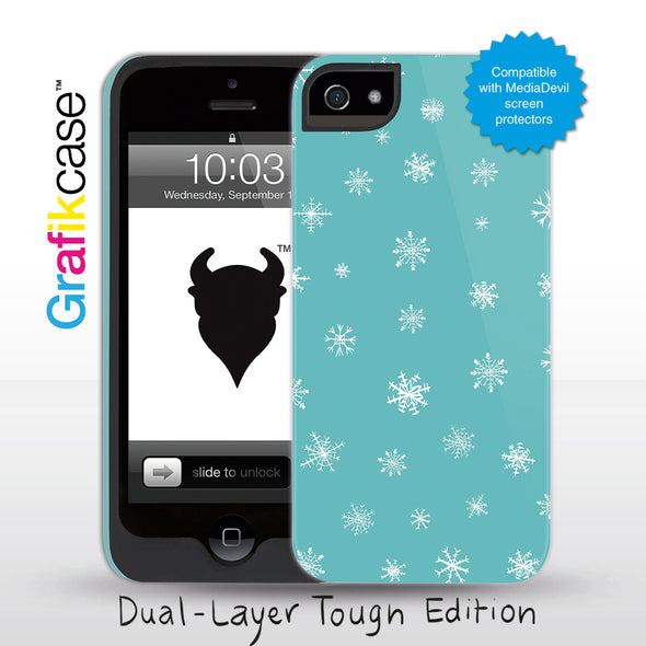 Grafikcase iPhone 5 case: Snowflakes