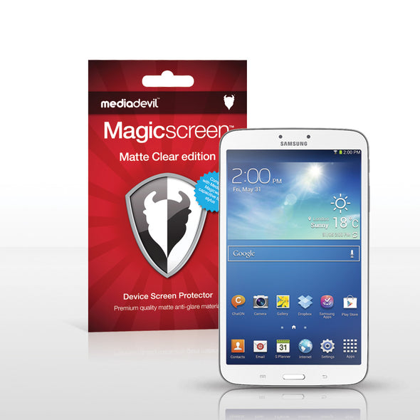 "Samsung Galaxy Tab 3 (8.0"") WiFi Matte Clear (Anti-Glare) Screen Protector 