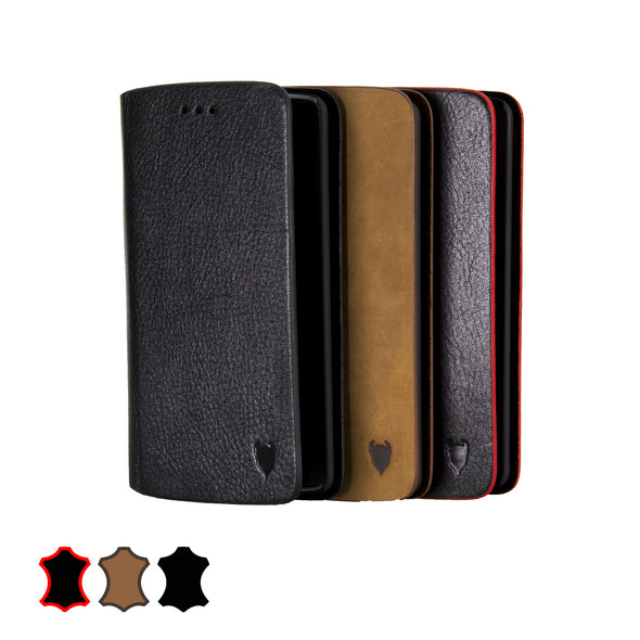LG G3 Genuine European Leather Notebook Case with Stand | Artisancover (1st Gen.)