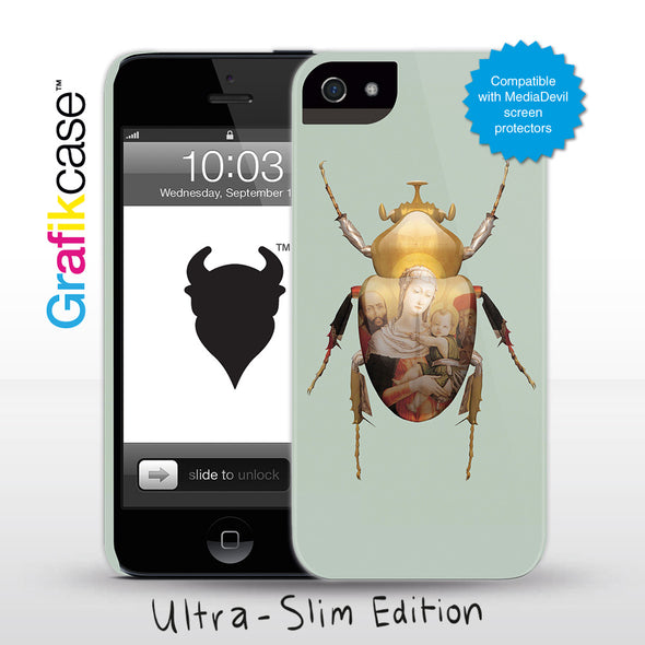 Grafikcase iPhone 5 case: Scarab Madonna and Child by Magnus Gjoen