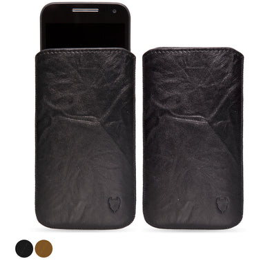 Motorola Moto G (2015) Genuine European Leather Pouch Case | Artisanpouch