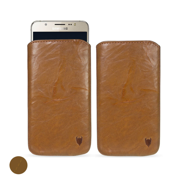 Samsung Galaxy J7 (2016) Genuine European Leather Pouch Case | Artisanpouch
