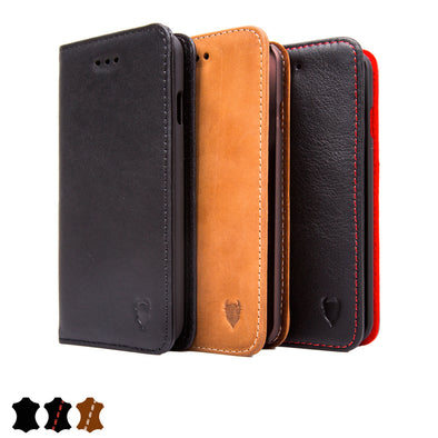Artisancover (2nd Gen.) genuine European leather case with integrated stand and card holders - Apple iPhone 6 / 6s