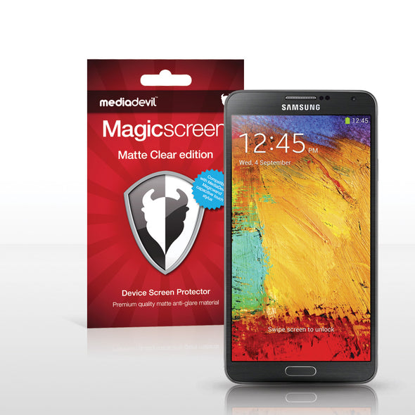 Samsung Galaxy Note 3 Matte Clear (Anti-Glare) Screen Protector | Magicscreen
